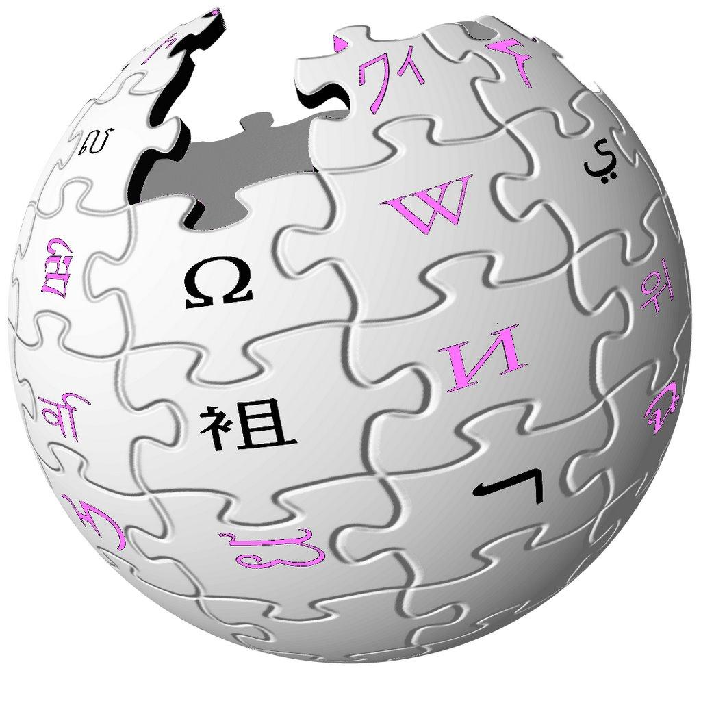 Famoso logotipo de la encilopedia abierta «en-línea», Wikipedia