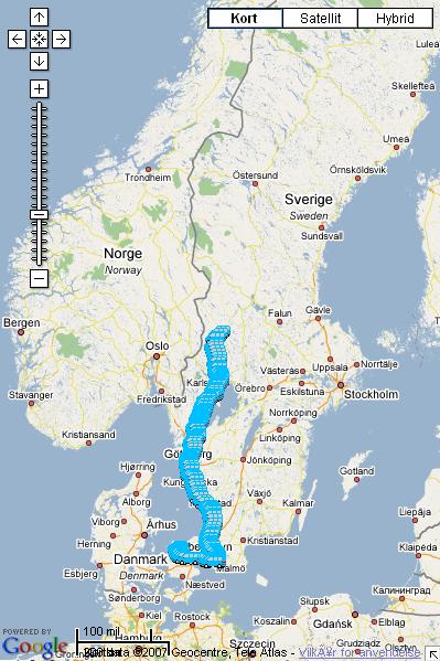google kort over danmark