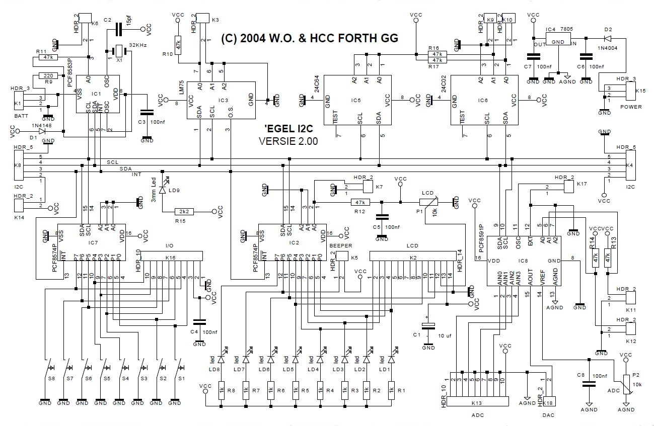 Egel Hedgehog For Launchpad I2c Wiring Diagram Timer And Clock With Pcf8583